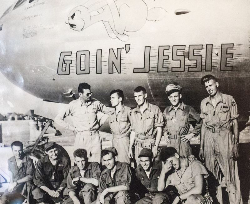 COURTESY PHOTO - Jack Cramer (wearing hat in back row) poses with his B-29 crew during WWII.