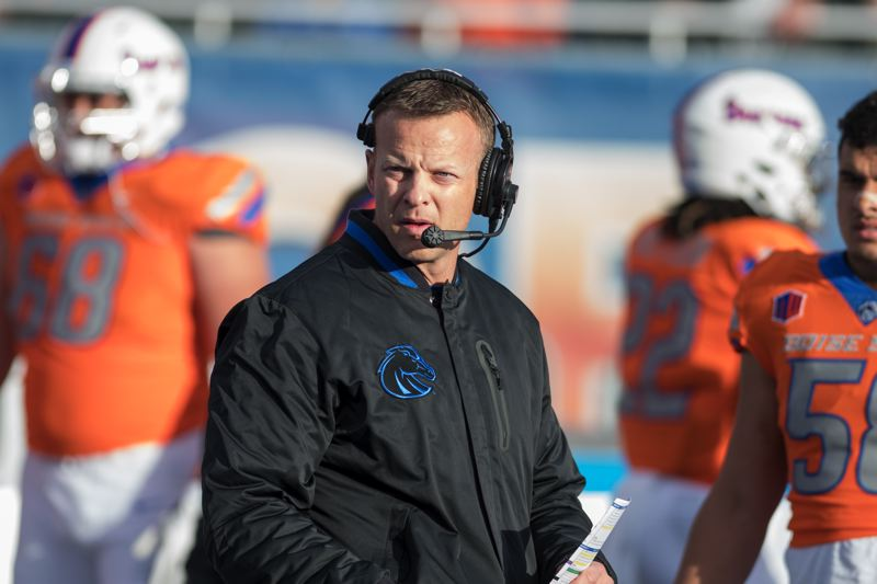COURTESY: BOISE STATE UNIVERSITY - Boise State coach Bryan Harsin will lead the Broncos in Saturday's Las Vegas Bowl game against Oregon.