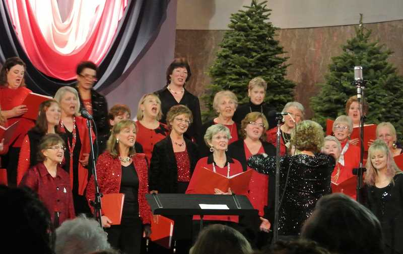 SUBMITTED PHOTO - The Cascade Harmony Chorus, a Sweet Adelines-style a capella vocal group of 30 ladies, will present some Christmas songs and other numbers, at Woodburn United Methodist Church Dec. 17.