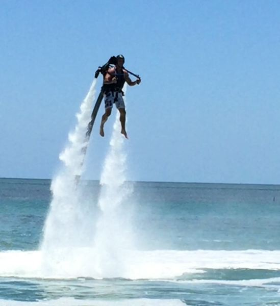 CONTRIBUTED PHOTO: LILA REED - Florida Keys Jetpacks offers a thrill ride to remember, off the shores in Islamorada. 'It's kind of like flying over the water,' Reed says.