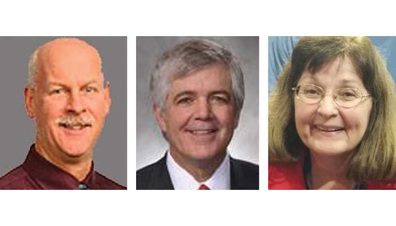 SUBMITTED PHOTOS - Candidates to replace former State Sen. Ted Ferrioli include, left to right, Dr. Eric Wattenburg, Rep. Cliff Bentz, and Suzan Ellis Jones.