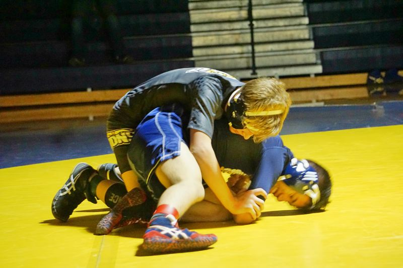 PHOTO CREDIT: AMY GADBOIS - Lions freshman Tristin Buchanan came away fifth at 120 pounds at the Springfield Tournament.