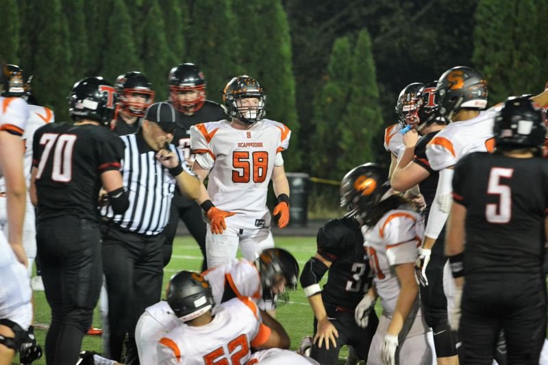 SPOTLIGHT PHOTO: JAKE MCNEAL - Nate Maller (58) is a senior first-team offensive lineman.
