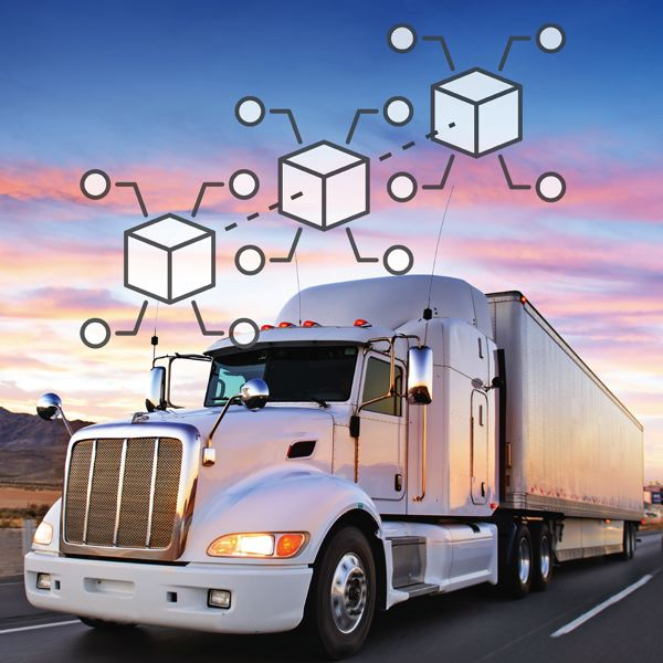 COURTESY: DAT SYSTEMS - Trucking could be revolutionized by blockchain, the software behind bitcoin, eliminating paperwork.