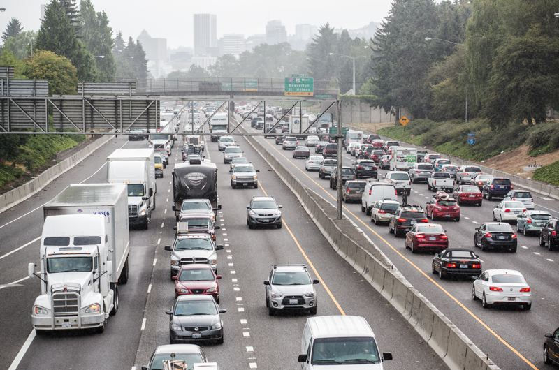 TRIBUNE FILE PHOTO  - Portland-area commuters who mutter that traffic has grown much worse in recent years aren't hallucinating. Census data show a major increase in the number of commuters the past two years as the economy heated up. The data show people also are taking a lot longer to get to work.