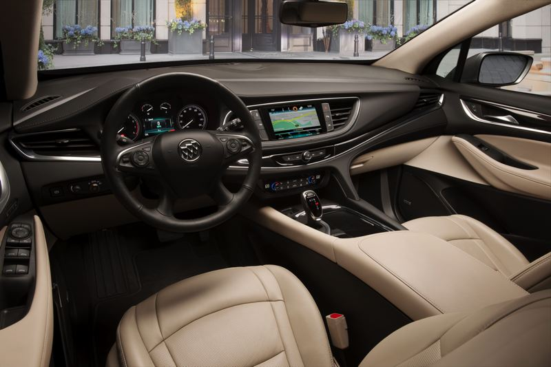 COURTESY GENRAL MOTORS - The interior of the 2018 Buick Enclave is comfortable and sophisticated.