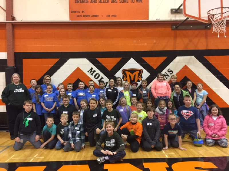 SUBMITTED PHOTO: KATHLEEN FRENCH - Pictured are Molalla's students who participated in the Perennial Math competition on Dec. 9.