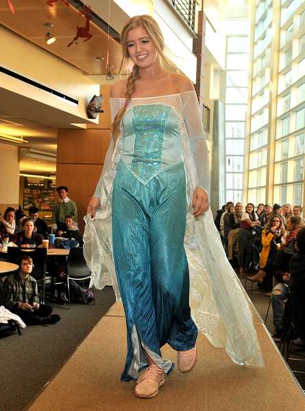 SPOKESMAN PHOTO: VERN UYETAKE  - Kara Hix is Elsa from 'Frozen.'