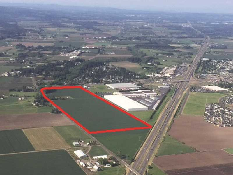 COURTESY PHOTO: SPECHT PROPERTIES - The land annexed into the city (outlined in red) is currently vacant. It will become an in industrial property once it's developed.