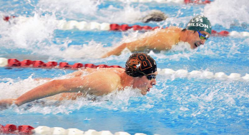TIMES FILE PHOTO - Beaverton senior Van Mathias is a defending Class 6A state champion in the backstroke and breaststroke and is also a multiple time Metro League champ.