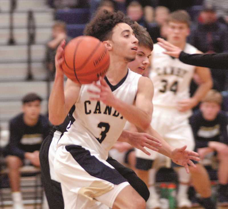 PAMPLIN MEDIA GROUP PHOTO: MATT RAWLINGS - 5'10 Senior Wade Brewer had a big game against Gresham on Friday, Dec. 15, scoring 28 of Canby's 53 points en route to Canby's 53-44 win. Brewer is one of Canby's leaders on the court.