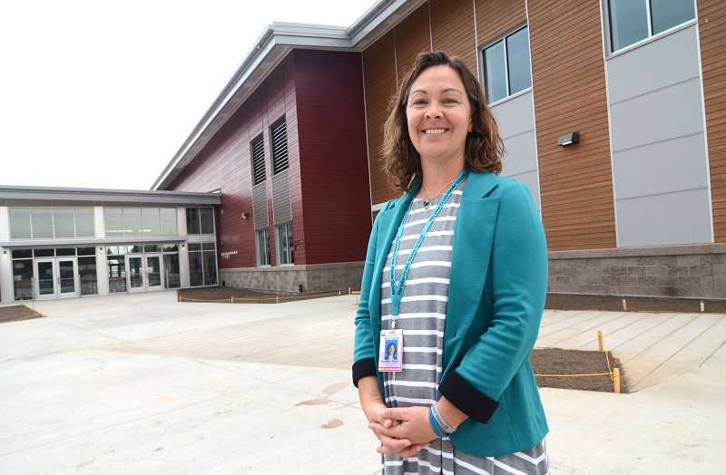 FILE PHOTO - Meridian Creek Middle School opens on time for the 2017-2018 school year. Pictured here is Principal Annikke Olson.