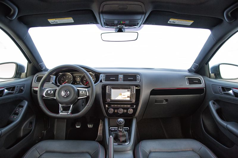 VOLKWAGEN OF AMERICA - The interior of the Volkswagen Jetta is clean and functional (GLI model shown).