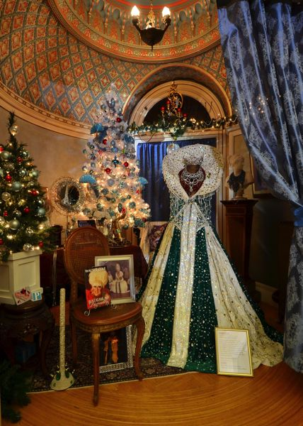 COURTESY PHOTO - In decorating Pittock Mansion this year, organizers went with a Portland-centric theme, highlighting such things as Darcelle, the city's favorite drag queen. 'A Very Portland Christmas' is exhibited till Dec. 31.