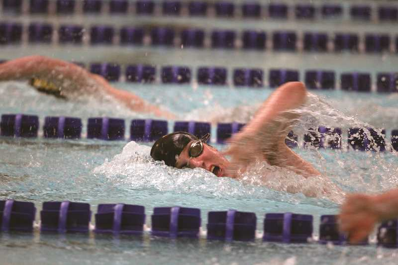 PHIL HAWKINS - Kennedy's Jacob Miller won the 500-yard freestyle at the Kroc Center last week.