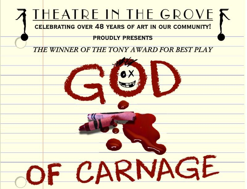 COURTESY IMAGE - Theatre in the Grove's January offering is 'God of Carnage,' by Yasmina Reza.