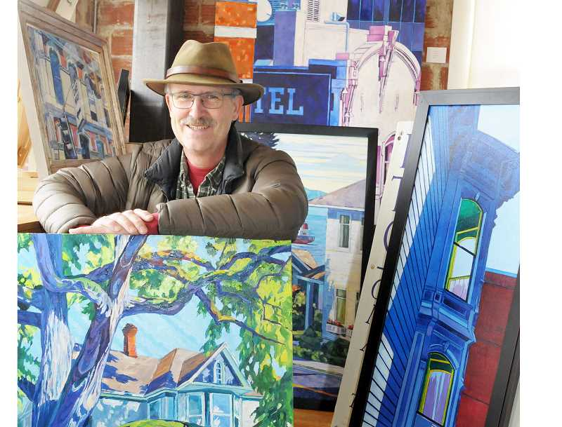 GARY ALLEN - College Street, which he occasionally opens as a gallery to show his paintings and their distinctive style.