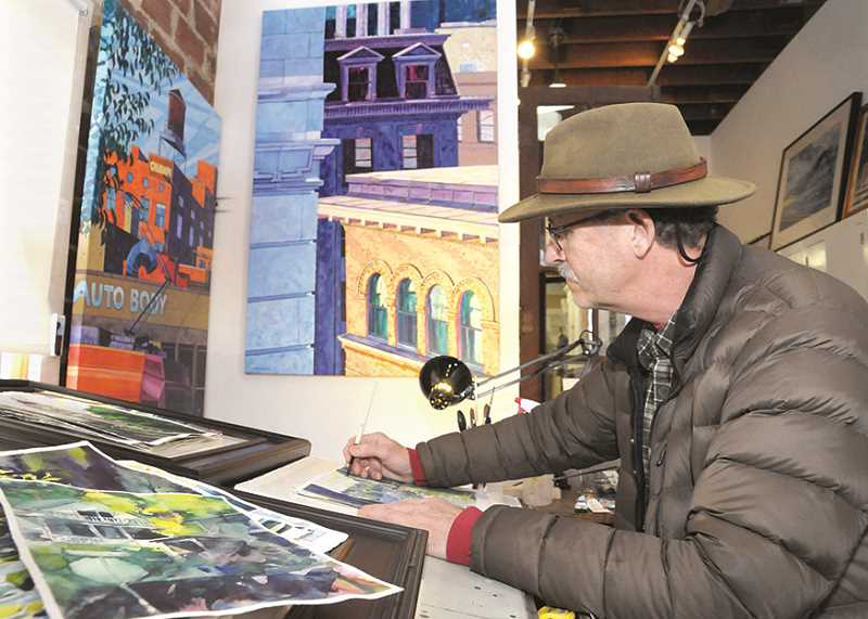 GARY ALLEN - Gary Buhler paints with oil, watercolor and acrylics, and works on canvases big and small. Each medium, he said, has its own strength, and 'it's a challenge to learn to use them all effectively.'