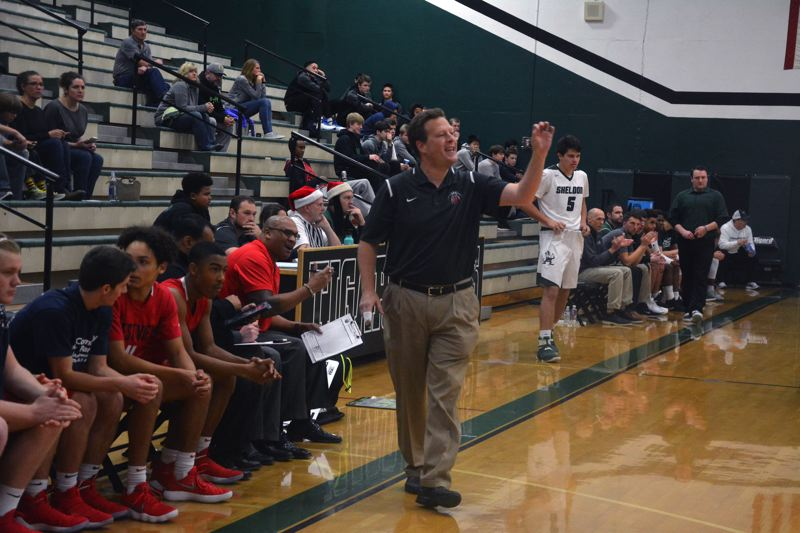 TIMES PHOTO: MATT SINGLEDECKER - Westview head coach Mike Wolf and the Wildcats rebounded after losing Tigard to beat Sheldon.