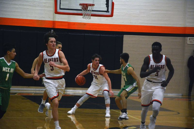 TIMES PHOTO: MATT SINGLEDECKER - Beaverton senior Jake Estep scored 24 of his 26 points in the second half to help the Beavers beat McKay.