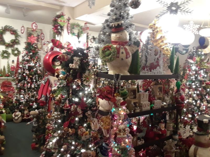 OUTLOOK PHOTO: SHANNON O. WELLS - The basement of the Troutdale General Store becomes a virtual winter wonderland courtesy of co-owner Jodi Smoke, who transforms the space every holiday season.