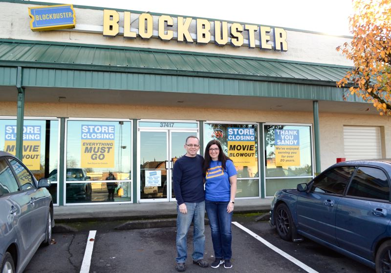 POST PHOTO: BRITTANY ALLEN - The Sandy Blockbuster video rental is expected to be officially out of business by the end of the year after 12 years in its Highway 26 location.