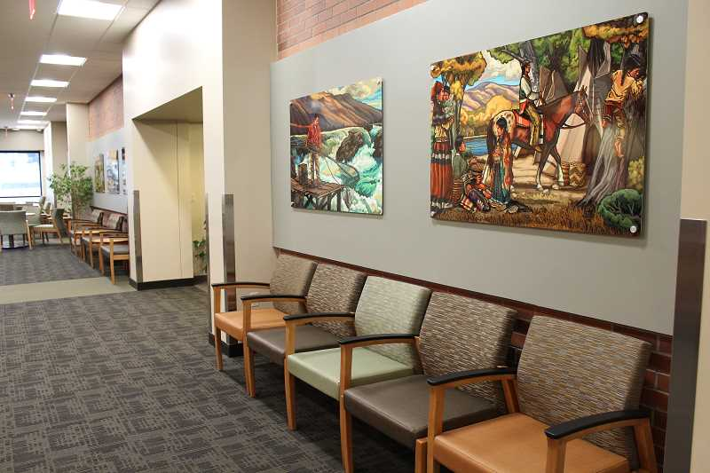 HOLLY GILL/MADRAS PIONEER - The new galleria entrance at St. Charles Madras.