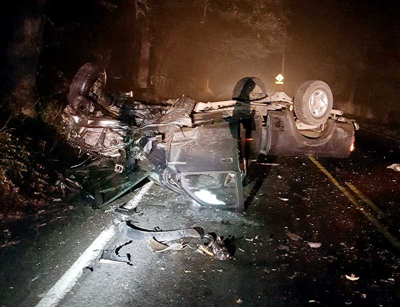 OREGON STATE POLICE - A 2002 Toyota Tacoma, operated by 26-year-old Miranda Willman, of Molalla, reportedly struck a vehicle head-on along Highway 213 just south of Molalla Tuesday night, sending both drivers to OHSU with non-life threatening injuries.