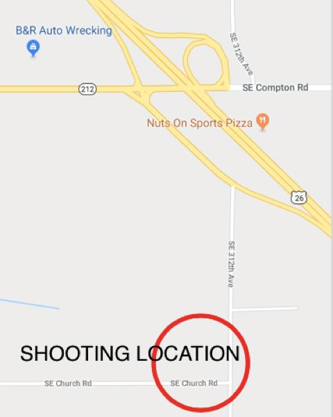 STAFF GRAPHIC - Nathaniel Fritz Macalevy, 44, died after an exchange of gunfire with Clackamas County sheriff's deputies in the vicinity of Southeast 312th Avenue and Southeast Church Road in Boring.