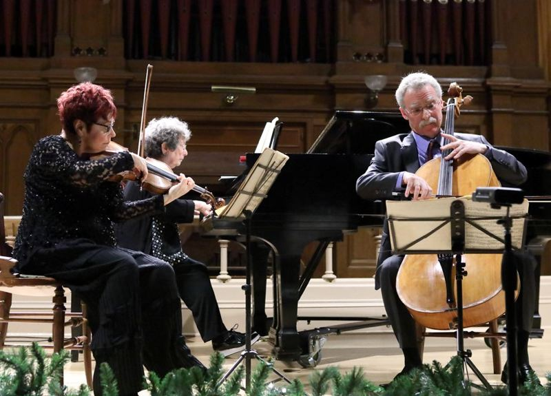 COURTESY: FRIENDS OF CHAMBER MUSIC - The Florestan Trio helps ring in the new year with a performance at The Old Church, 7:30 p.m. Sunday, Dec. 31. It's part of the Frineds of Chamber Music's Dinner with Friends series.
