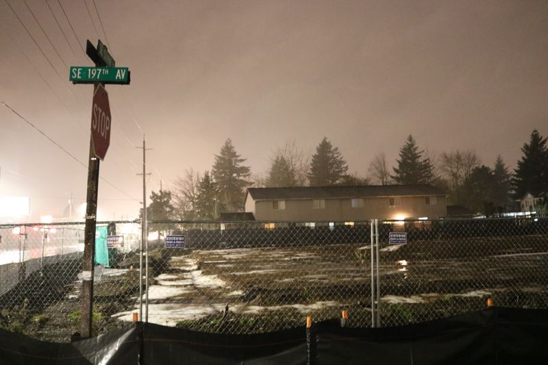 OUTLOOK PHOTO: ZANE SPARLING - The future site of Alliance Senior Living was a muddy mess on Thursday, Dec. 28.