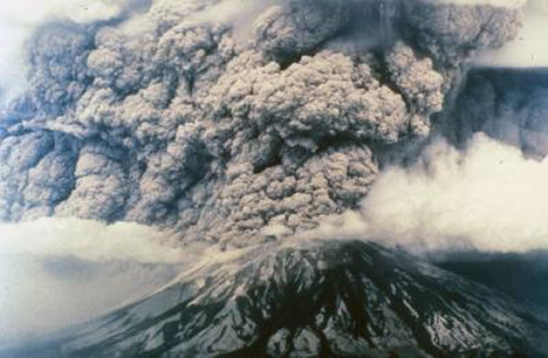 CONTRIBUTED PHOTO - New Years Gripe - How can you boast to outside residents about living here when you know youre residing smack dab in the lap of an active volcano? Back in 1980, they didnt think it could happen to Mount Saint Helens, either. But, sure enough, it did (see photo). Just 60 air miles south of this Cascadian volcano, the same volcanic clock is ticking on another mountain, our very own Mount Hood. Truth in advertising: We need to let everyone know who wants to move here and add to our already overflowing population tally that they should do so at their own risk.