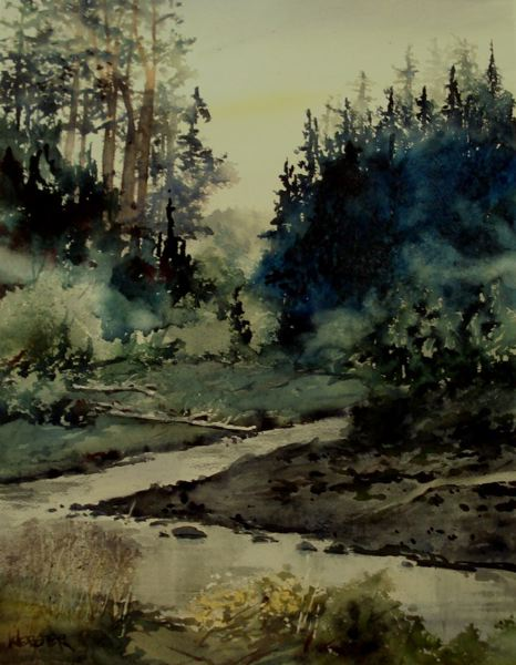 SUBMITTED PHOTO - Oregon City artist William Webster's watercolor, above, is titled 'Near Downieville.'