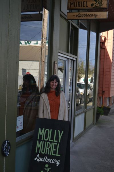 PHOTO BY: RAYMOND RENDLEMAN - Molly Muriel, now known as the Milwaukie Apothecary, has been the factory and showroom for the wholesale company for four years.