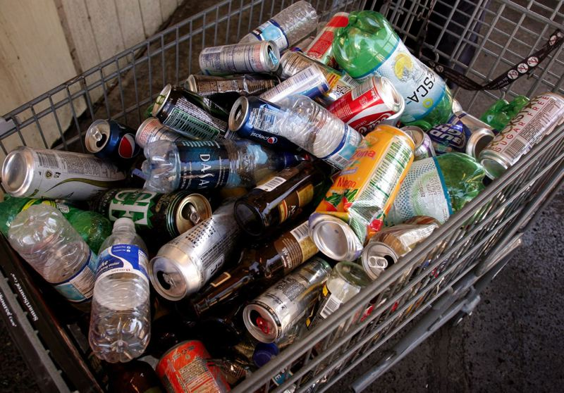 PAMPLIN FILE PHOTO - Bottles and cans for recycling