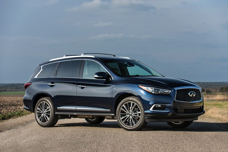 INFINITY NORTH AMERICA - Although it has room for seven, the 2018 Infinity XC60 looks more like a large, sleek wagon tnat a boxy SUV.