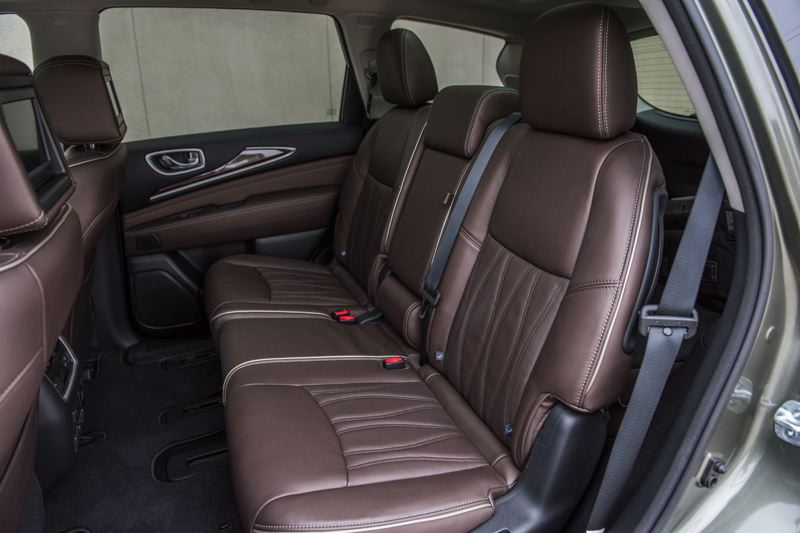 INFINITI NORTH AMERICA - There plent of room for three passengers in the second row of seats in the 2018 Infiniti XC60, and room for two more behind it.