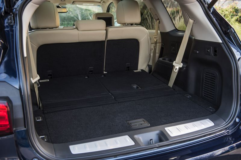 INFINITI NORTH AMERICA - Cargo space in the 2018 Infiniti XC60 is enormous with the third row of seats folded down.