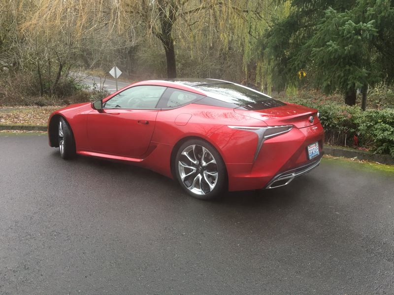 PORTLAND TRIBUNE: JEFF ZURSCHMEIDE - The 2018 Lexus LC 500 is equally striking coming and going.