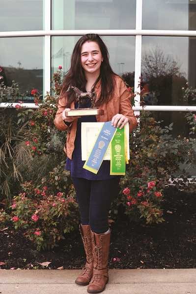 COURTESY PHOTO: KIM KNIGHT - Hubbard resident Alexis Knight beat out of 17 competitors in the public speaking category at the Eastern Nationals 4-H Horse Roundup in Louisville, Kentucky.