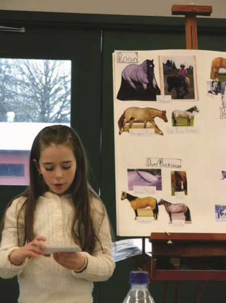 COURTESY PHOTO: KIM KNIGHT - Alexis Knight started public speaking at age 9, with horses being a frequent topic.