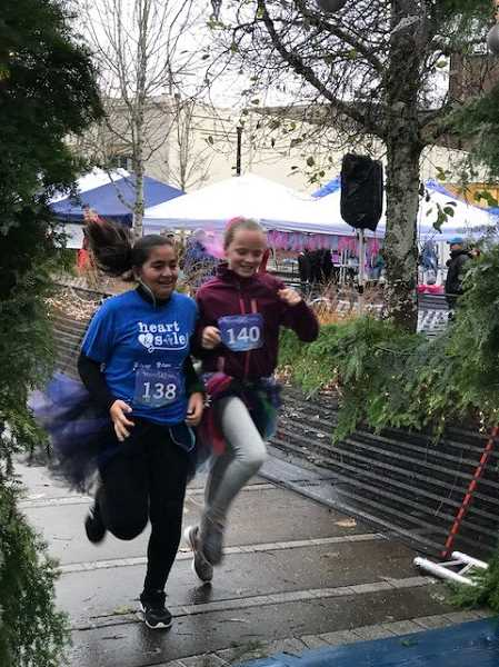 COURTESY PHOTO: JODY FARRI - The North Marion Middle School Girls on the Run program was held this past fall, culminating in a 5K run at Oregon State University.