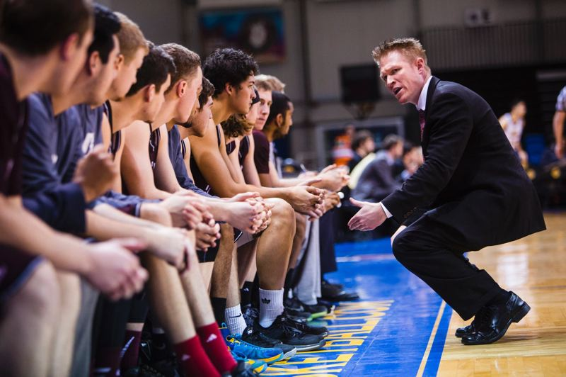 COURTESY: UNIVERSITY OF PUGET SOUND - Justin Lunt, Puget Sound men's basketball coach, now urges his players to press full-court, take 3-point shots and shoot quickly, and the results have been good, so far, this season.