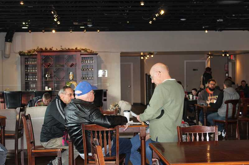 HERALD PHOTO: KRISTEN WOHLERS - Gwynn's Coffeehouse was bustling with patrons at their soft opening Wednesday, Jan. 3.
