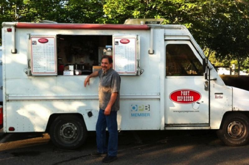 Bruce Lindner's popular Pony Espresso truck, before the fire.
