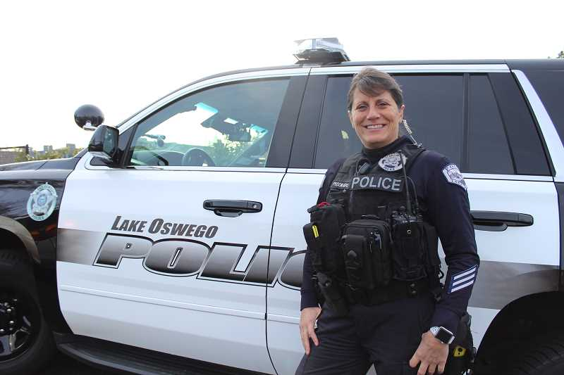 REVIEW PHOTO: SAM STITES - Dawn Pecoraro has served the City of Lake Oswego as a police officer for 14 years.