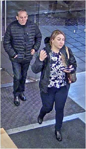 COURTESY OF TUALATIN POLICE DEPARTMENT - Police believe this man and woman, along with woman in the accompanying photo had something to do with the theft of a wallet and credit card from a Tualatin restaurant on Dec. 28.