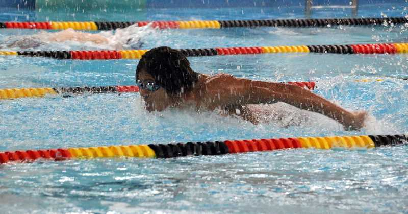 SUBMITTED PHOTO: TIMMY NGUYEN - Wilsonvilles swimmers dominated in Milwaukie against the Putnam Kingsmen on Jan. 5.
