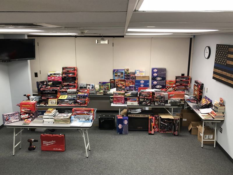 COLUMBIA COUNTY SHERIFF'S OFFICE PHOTO - Thousands of dollars worth of stolen goods, including instruments, tools and memorabilia, were seized during an extended burglary investigation and sting operation.