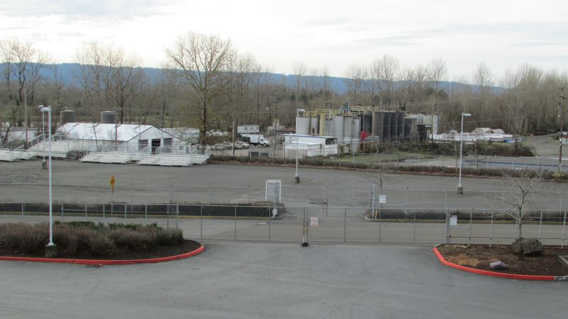 COURTESY TOM TEST - The EcoLube Recovery plant as seen from the Portland Expo Center, across the street.